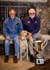 "Anthony Pirano and Bob Hayden with ""Big Al"" winner of the 2011 Hook Memorial Trophy"